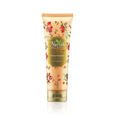 Nurish Organiq 24K Gold Foamy Cleanser 100ml